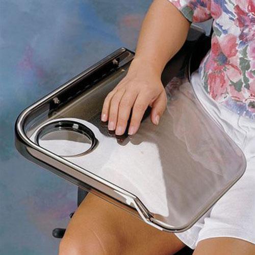 Flip Away Clear Wheelchair Tray